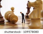 Business character analyzing a failed strategy. - stock photo