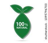 eco green energy concept 100... | Shutterstock .eps vector #1095796703