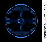 hud futuristic elements data... | Shutterstock .eps vector #1095815027