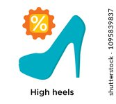 high heels icon isolated on... | Shutterstock .eps vector #1095839837
