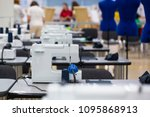 interior of garment factory... | Shutterstock . vector #1095868913