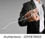 businessman with financial... | Shutterstock . vector #1095878003
