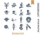 oktoberfest beer festival. long ... | Shutterstock .eps vector #1095885083