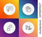 modern  simple vector icon set... | Shutterstock .eps vector #1095899027
