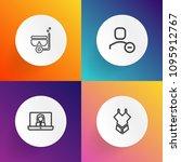 modern  simple vector icon set...   Shutterstock .eps vector #1095912767