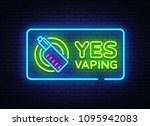 Yes Vaping Neon Sign. Zone...