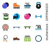 solid vector ixon set   barbell ... | Shutterstock .eps vector #1095960323