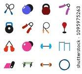solid vector ixon set   barbell ... | Shutterstock .eps vector #1095975263