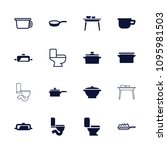 pan icon. collection of 16 pan... | Shutterstock .eps vector #1095981503