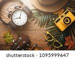 summer vacation background... | Shutterstock . vector #1095999647