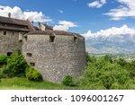 vaduz castle in the... | Shutterstock . vector #1096001267