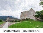 burg gutenberg in the alps.... | Shutterstock . vector #1096001273