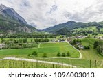 view of the city with vineyard... | Shutterstock . vector #1096003013