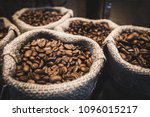 coffee beans in bags. fresh... | Shutterstock . vector #1096015217