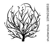 tree of life in hand drawn... | Shutterstock .eps vector #1096018853