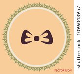 bow icon  vector design element   Shutterstock .eps vector #1096043957