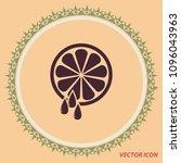 citrus juice  vector icon   Shutterstock .eps vector #1096043963