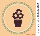 flowers in a pot  vector icon   Shutterstock .eps vector #1096043987