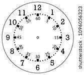 clock face for house  alarm ... | Shutterstock .eps vector #1096056323