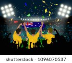 group of supporter hold... | Shutterstock .eps vector #1096070537