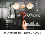 investor analyzing stock market ... | Shutterstock . vector #1096071917