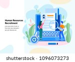 human resources  recruitment... | Shutterstock .eps vector #1096073273