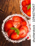 a serving of strawberry over... | Shutterstock . vector #1096074047