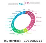 set of cycle percentage flow... | Shutterstock .eps vector #1096083113