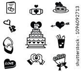 vector black hearts icons se...   Shutterstock .eps vector #1096092713
