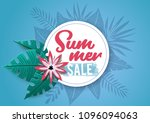 summer sale  banner with... | Shutterstock .eps vector #1096094063