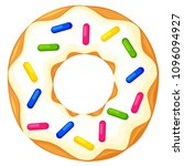 colorful cartoon donut with... | Shutterstock .eps vector #1096094927