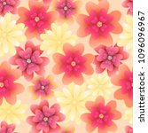 floral seamless pattern with... | Shutterstock . vector #1096096967