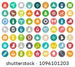 vector christmas icons set ... | Shutterstock .eps vector #1096101203