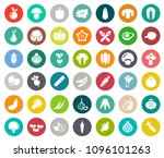 vegetables icons in set... | Shutterstock .eps vector #1096101263