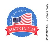made in usa sticker with... | Shutterstock .eps vector #1096117607