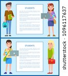 male and female teenagers set... | Shutterstock .eps vector #1096117637