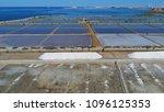 aerial photo of trapani salt... | Shutterstock . vector #1096125353