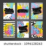 set of abstract poster designs... | Shutterstock .eps vector #1096128263