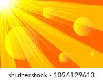 Banner Sunlight  Rays  Abstrac...