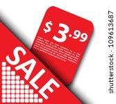 3d sale tag design | Shutterstock .eps vector #109613687