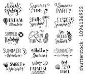 hand drawn set of lettering... | Shutterstock .eps vector #1096136933