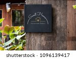 black signage on a rustic... | Shutterstock . vector #1096139417