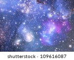 stars of a planet and galaxy in ... | Shutterstock . vector #109616087