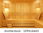 Sauna room - stock photo