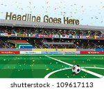 football stadium celebration | Shutterstock .eps vector #109617113