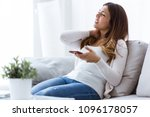 shot of tired young woman with... | Shutterstock . vector #1096178057