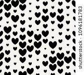 random size black cute hearts...   Shutterstock .eps vector #1096181783