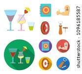 menu  armor with tattoo  darts  ... | Shutterstock .eps vector #1096185587