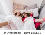 good looking girls expressing... | Shutterstock . vector #1096186613