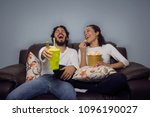 happy couple is laughing.... | Shutterstock . vector #1096190027